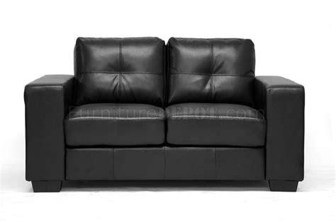 wholesale sofa sets whitney sofa set black bonded leather by wholesale interiors