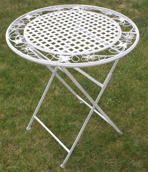 Garden Patio Table Maribelle Folding Outdoor Garden Patio Dining Table White Floral Furniture Ebay