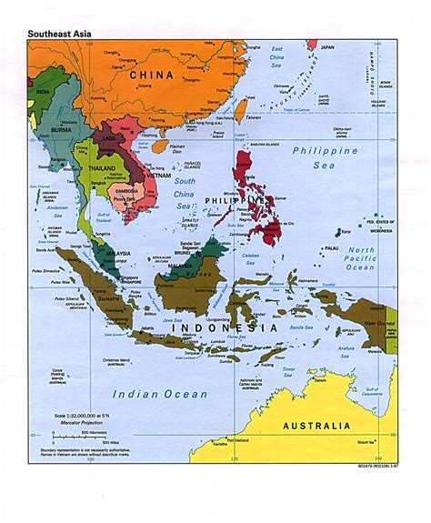 political map south asia southeast asia political map 1997 size