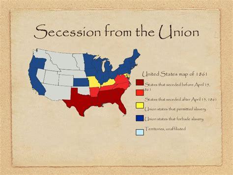 united states map 1861 civil war presentation