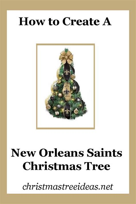 new orleans saints christmas ornaments christmas tree