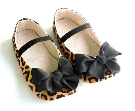 Baby Girl Crib Shoes Newborn Shoes Leopard Baby By Littleserah Baby Crib Shoes