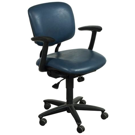 Haworth Chair by Haworth Improv Used Leather Task Chair Blue National