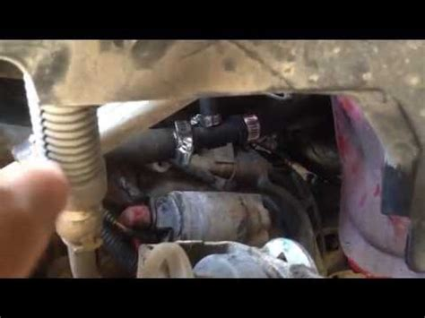 ford ranger  heater hose tee replacement youtube