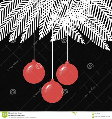 black and white christmas balls illustration with royalty