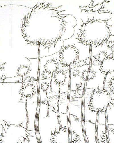 truffula tree coloring page the lorax book pages google search crafting things