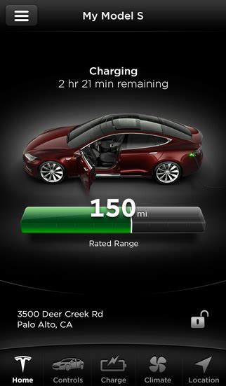 Tesla Iphone Tesla Motors On The App Store