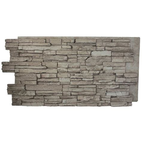 genstone stacked kenai 24 in x 42 in faux