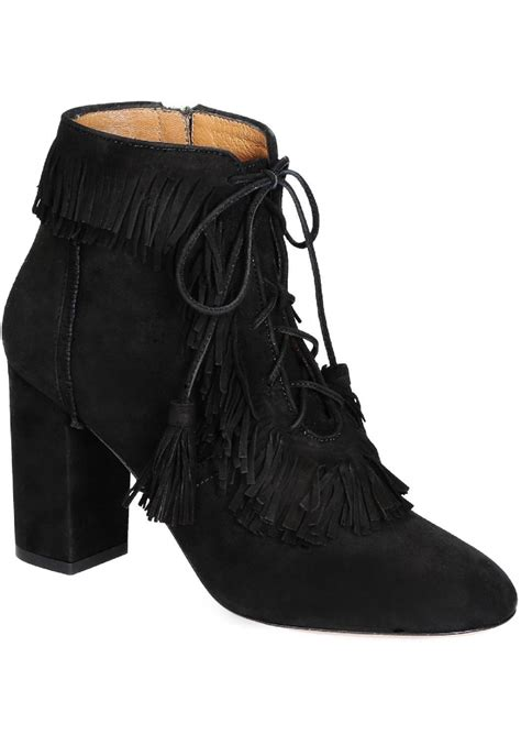 black suede high heel booties aquazzura high heels booties in black suede leather
