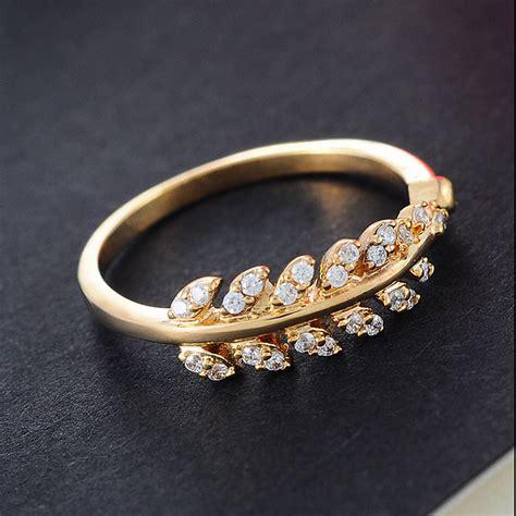 Rhinestone Ring Gold multistyle flower rhinestone silver gold