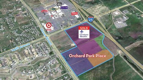 orchard mall map centura health nabs 22 acre lot near westminster orchard town center denver business journal