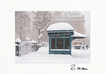 Holiday Station Gift Card - brooklyn bridge city hall subway station boxed holiday cards