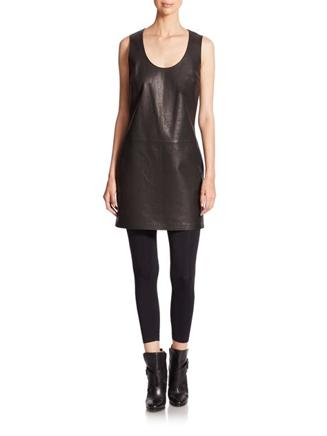 Dress Polos 2 lyst polo ralph leather shift dress in black