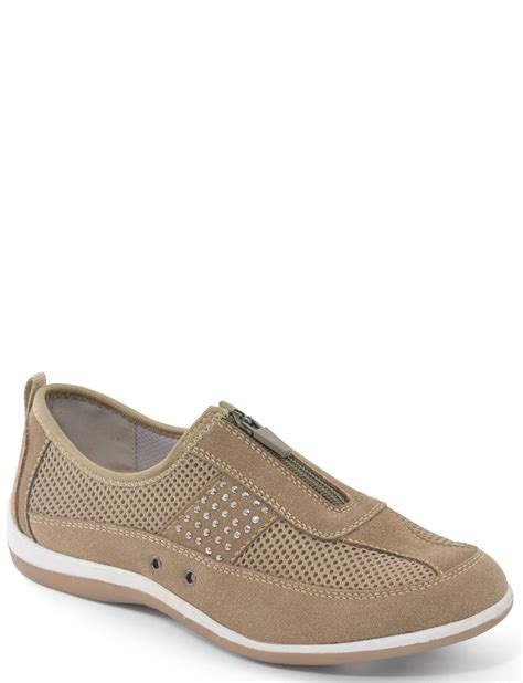 A Zip Code For Shoes by Cushion Walk Suede Zip Front Leisure Shoe Footwear