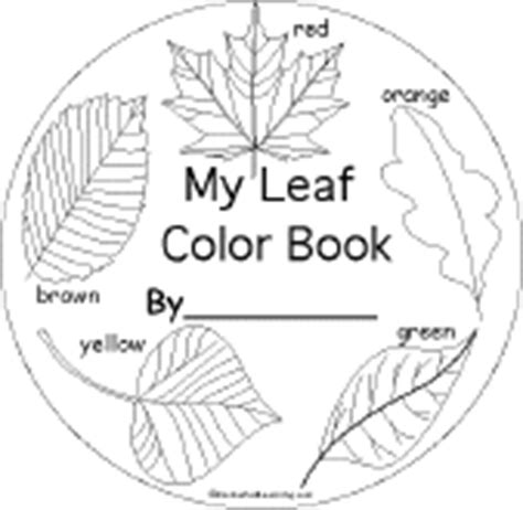 leaf identification coloring pages fall beginning readers books enchantedlearning com