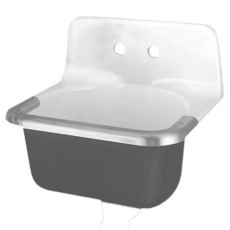 american standard wall mount utility sink american standard regalyn wall hung bathroom sink in white