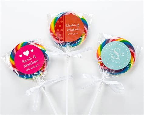 wedding favors lollipops sweet swirl personalized lollipop wedding favors set of 12