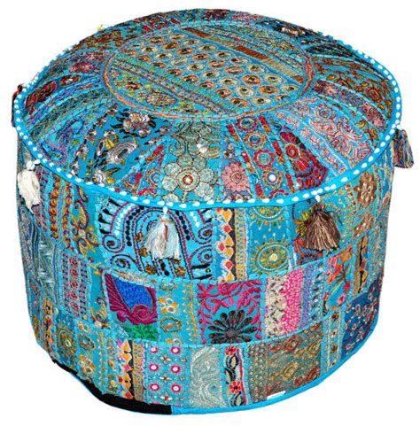 indian pouf ottoman pretty indian bohemian pouf ottoman stool from beinggypsy
