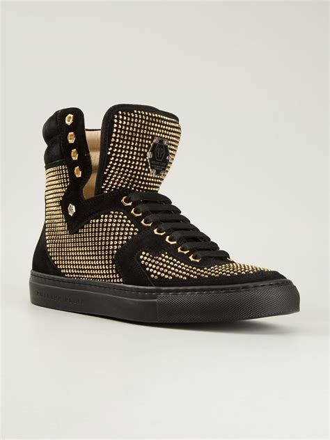 studded high top sneakers philipp plein studded high top sneakers in black for