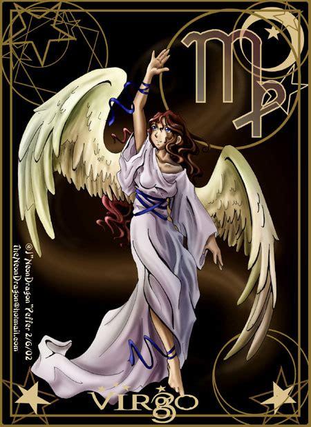 angel del signo virgo tatouage vierge signe astrologique de la vierge