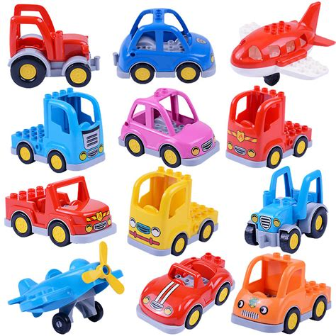 Best Seller Mainan Anak Car Construction 6 Pcs Mainan Anak aliexpress buy 1pcs diy big duploe block set toys compatible with duploe baseplate car