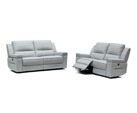 divani recliner divani casa hearst modern grey leatherette sofa set w