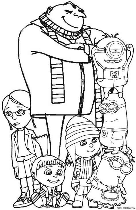 Printable Despicable Me Coloring Pages For Kids Cool2bkids Despicable Me Minions Coloring Pages