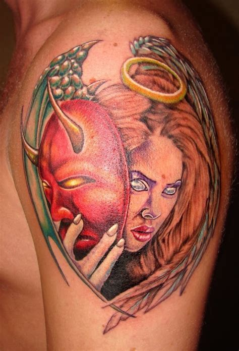 20 great devil and angel tattoo designs entertainmentmesh