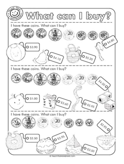 australian money worksheets teach this worksheets create and customise your own