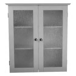 highland white glass door wall cabinet by