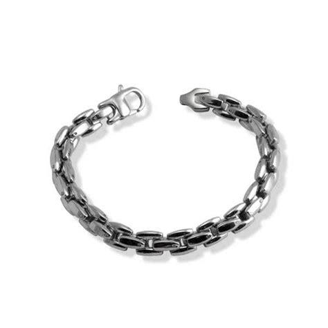 stainless steel fancy link heavy mens bracelet
