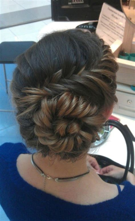 cute braided hairstyles going into a bun for black people cute fishtail braid curved twisted into a taut bun
