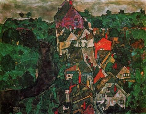 Egon Schiele Krumau Landscape Painting Best Krumau