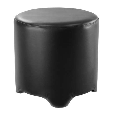 black round leather ottoman ashford faux leather round ottoman black in entryway storage