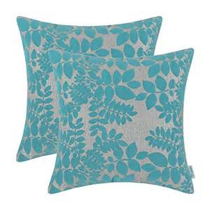 calitime throw pillow covers 18 x 18 inches flocking