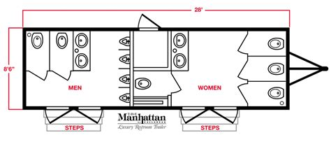 Mobile Restroom Trailers The Manhattan By Callahead 1