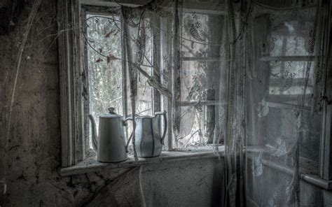 in a dark room with white curtains curtains window decay ruins room interior design dark