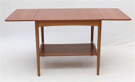 Drop Leaf End Table Hans Wegner Drop Leaf Side Table At 1stdibs