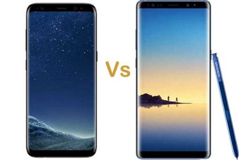 Samsung Note 8 Vs S8 samsung galaxy note 8 vs samsung galaxy s8 plus differences buying guides specs product