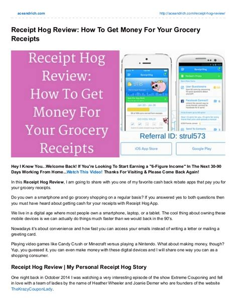 Georgetown Mba Review by Receipt Hog Review How To Get Money For Your Grocery Receipts