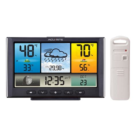 acurite backyard weather thermometer acurite digital wireless weather station with color