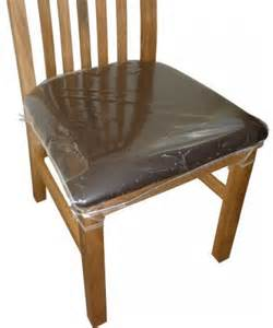 Details about 6 x clear plastic dining chair seat cushion covers