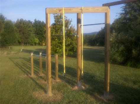 backyard gymnastics backyard gym diy pinterest