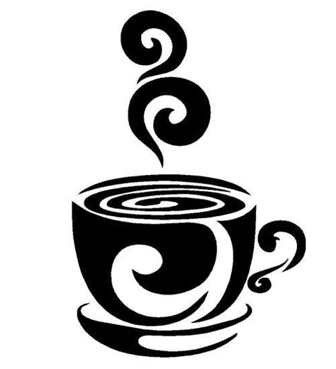swirl coffee cup cafe vinyl wall art decal stickers