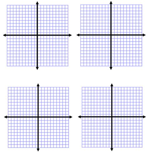 Printable Algebra Graphs | 4 quadrant graph paper new calendar template site