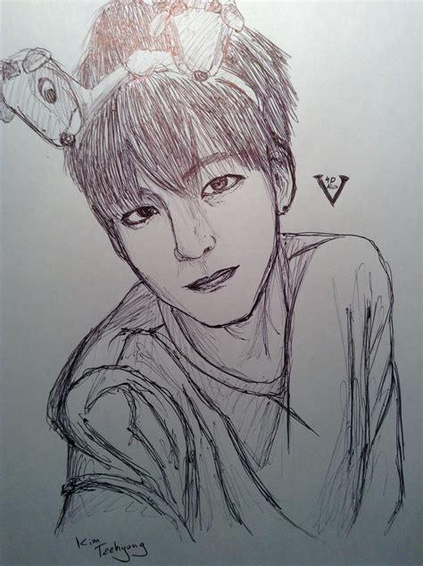 V Drawing Easy by Taehyung V By Yellowharuka On Deviantart