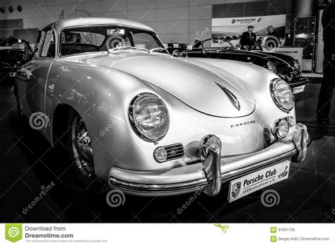 porsche sports car black luxury sports car porsche 356 1955 editorial photo