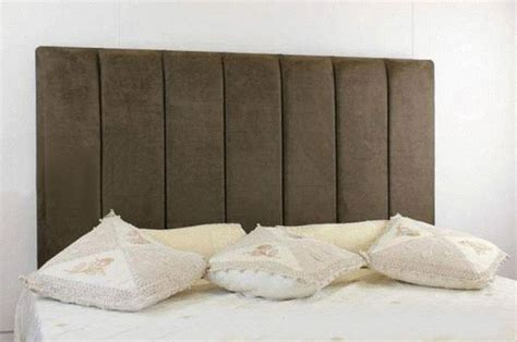 Brown Suede Headboard by Durham Faux Suede Headboard