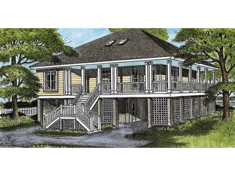 raised house plans wellsley raised lowcountry home plan 081d 0039 house