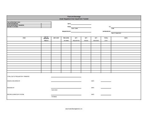 Breakage Report Form Template